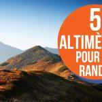top 5 altimètres randonnée