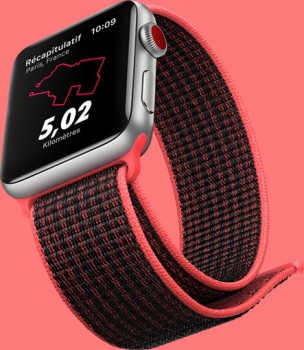 apple watch 3 randonnée gps